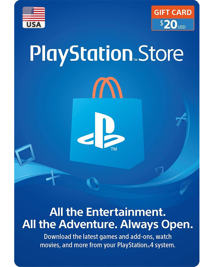 Playstation Wallet PSN Gift Card $20 USA