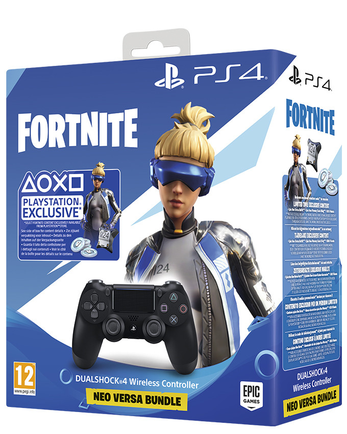 Dualshock 4 Wireless Controller PS4 Fortnite Black Gamepad