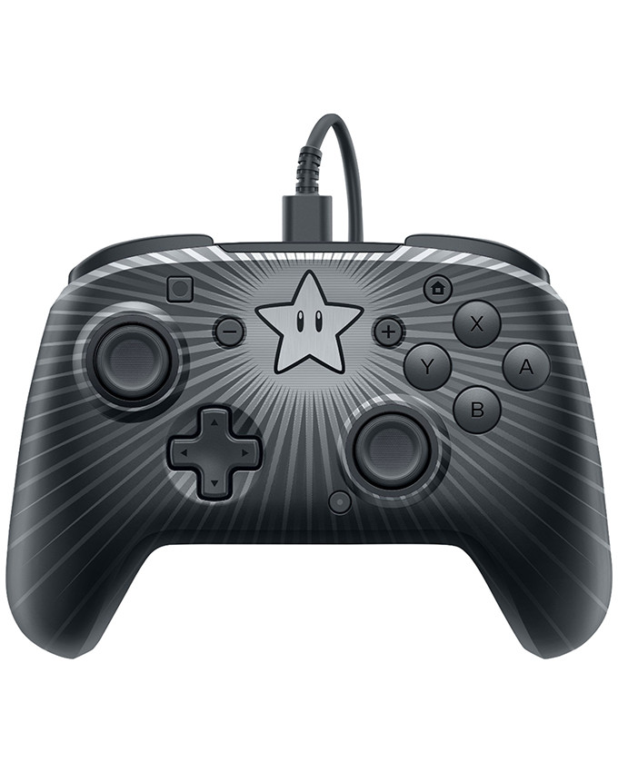 Gamepad PDP Nintendo SWITCH Faceoff Wired Pro Controller Super Mario Star