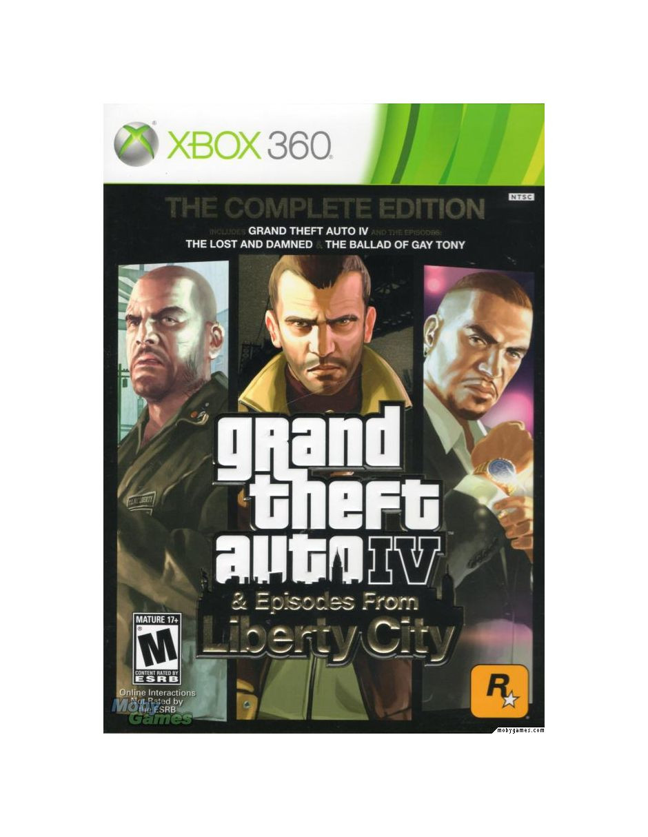 XBOX 360 Grand Theft Auto IV GTA 4 - The Complete Edition