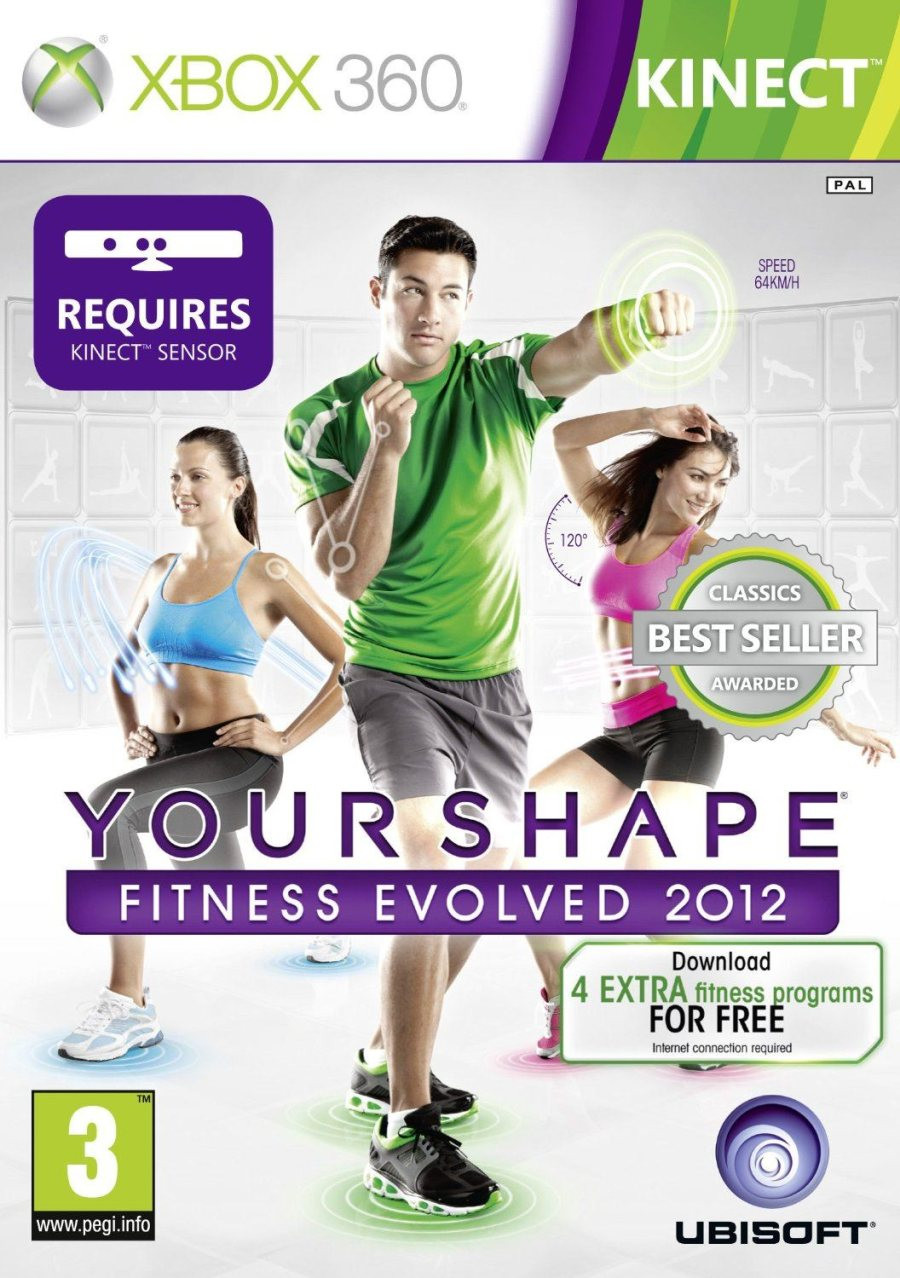 XBOX 360 Your Shape Fitness Evolved 2012 KINECT