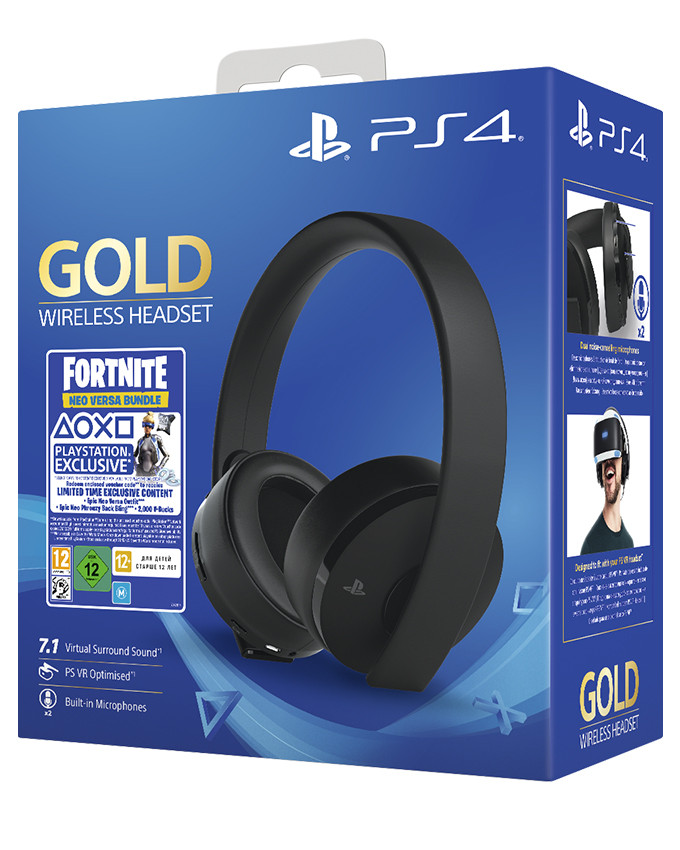 Slušalice PS4 Wireless Headset Gold Fortnite Neo Versa