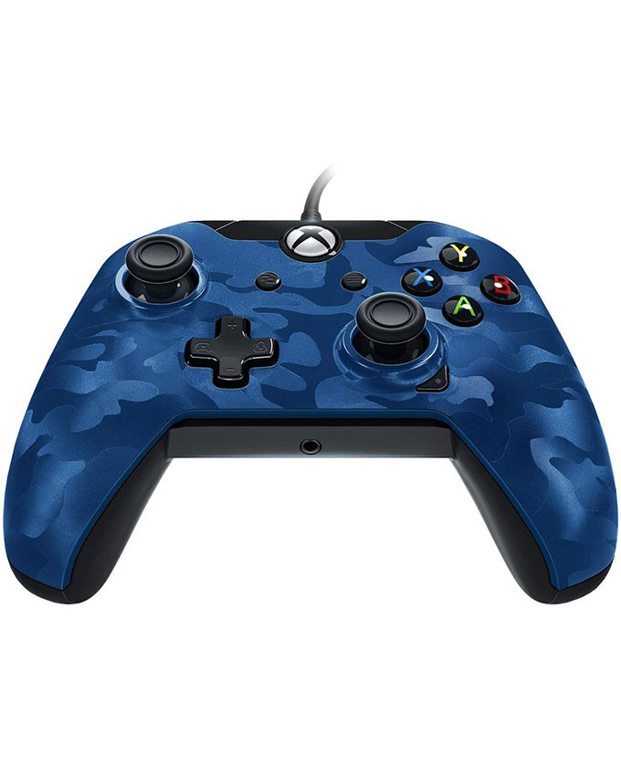 Gamepad PDP Wired Deluxe Controller Blue Camo XB1/PC
