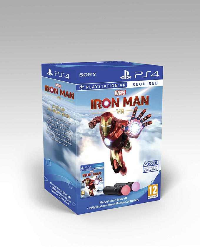 PS4 Marvels Iron Man VR + Playstation Move Motion Twin Pack