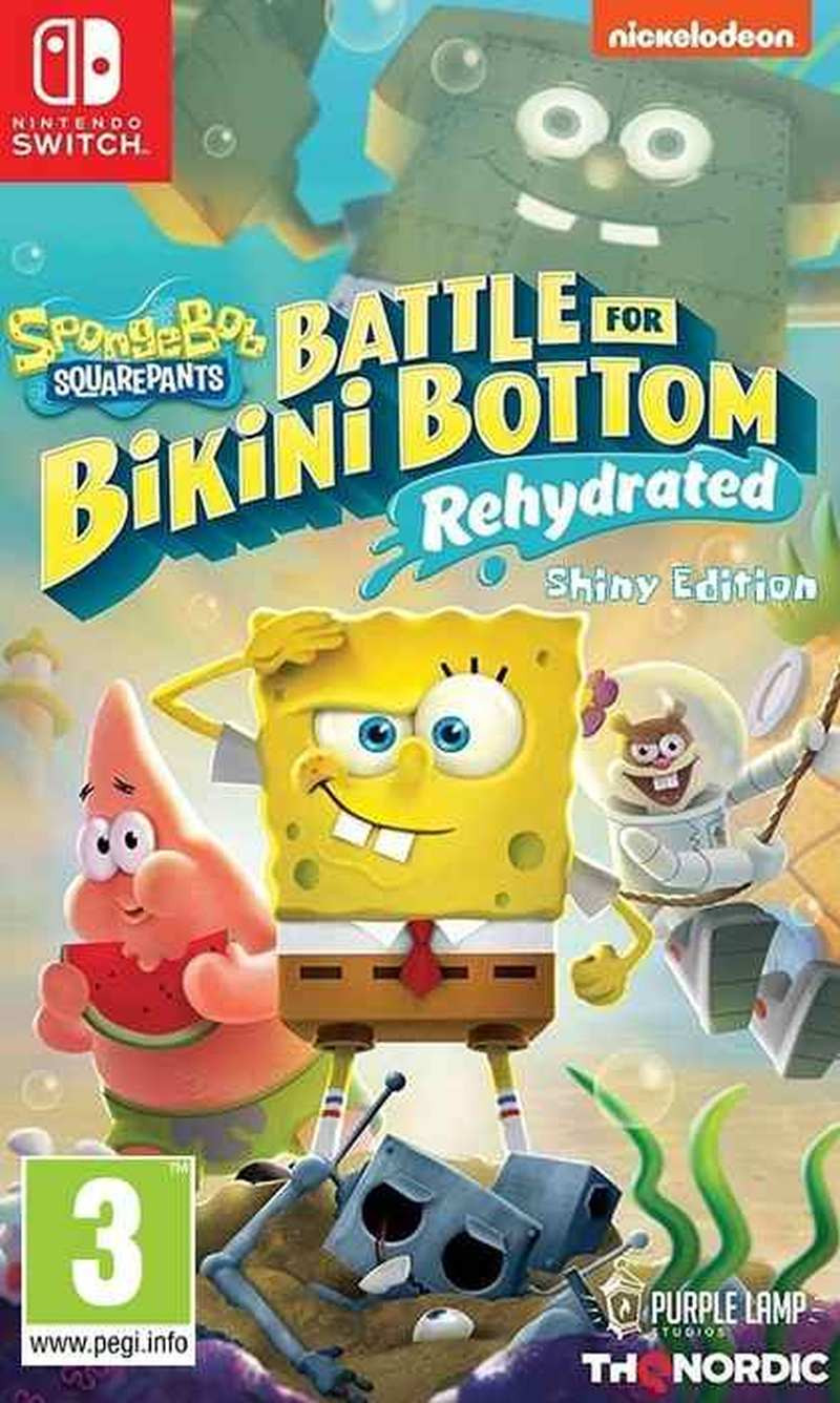 SWITCH Spongebob SquarePants - Battle for Bikini Bottom - Rehydrated - Shiny Edition