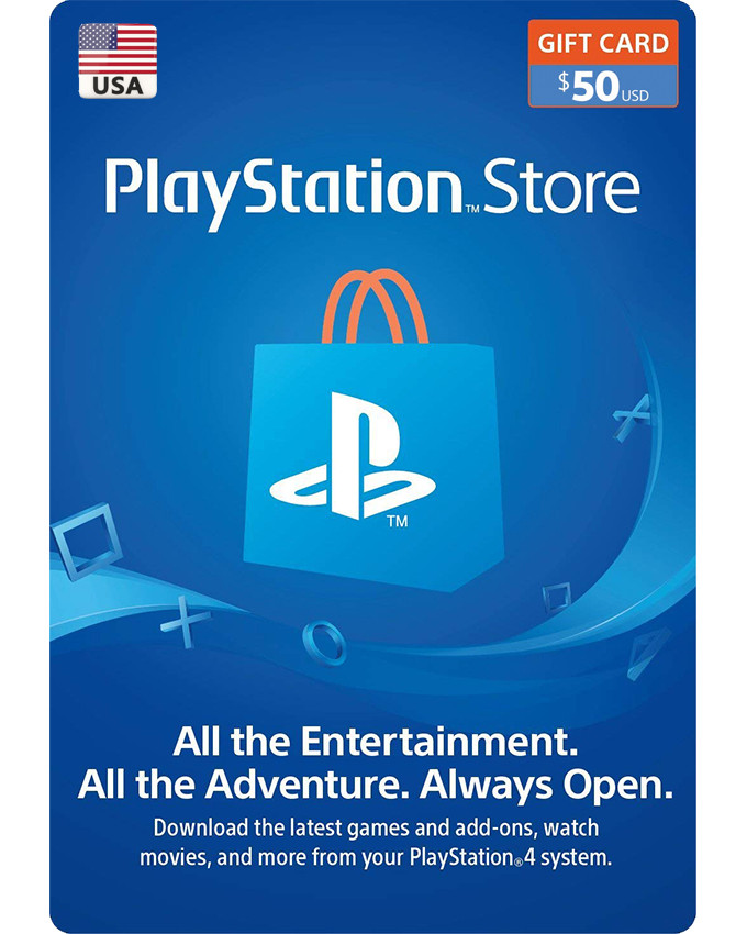 Playstation Wallet PSN Gift Card $50 USA