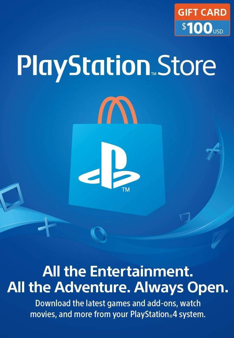 Playstation Wallet PSN Gift Card $100 USA