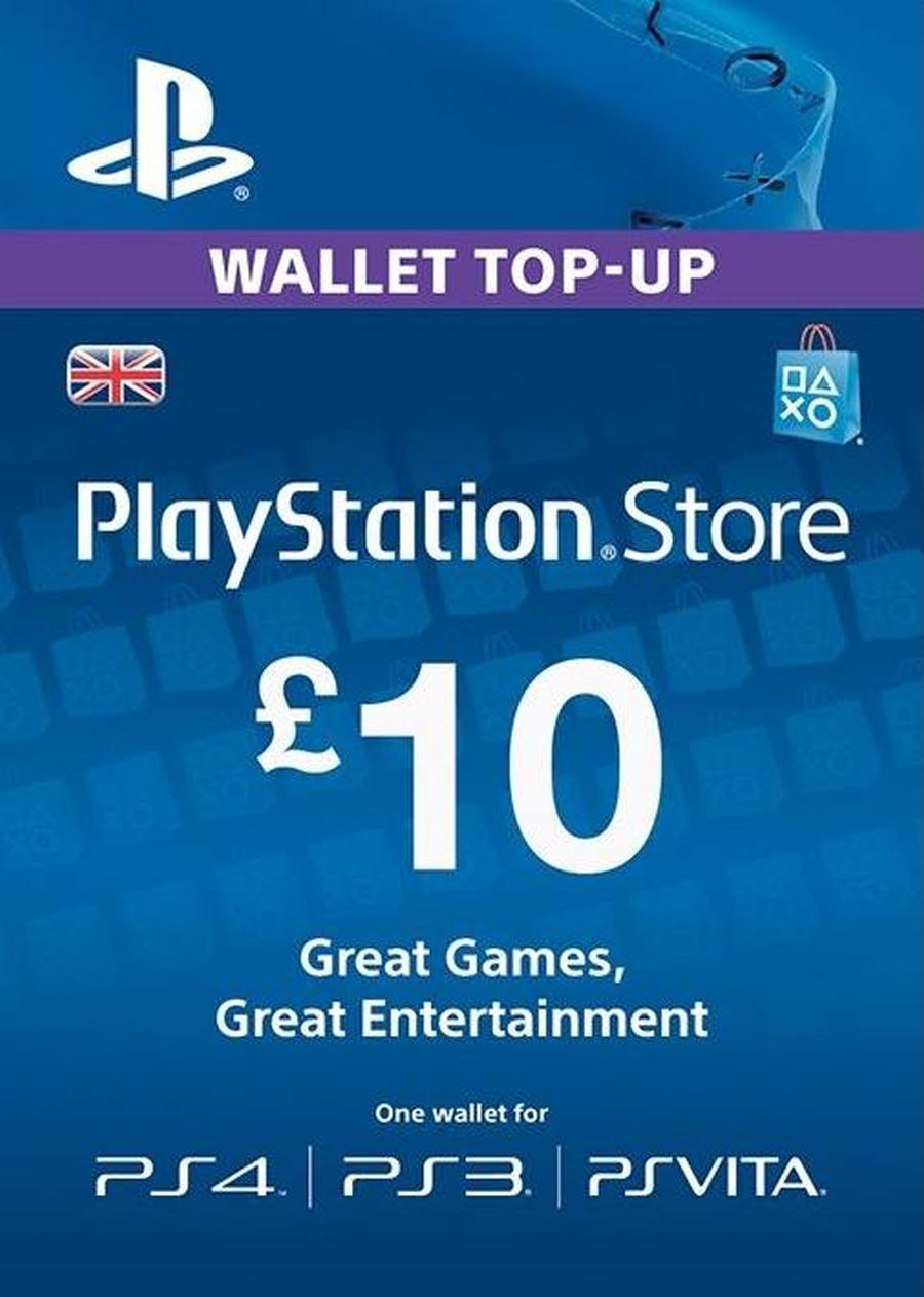 Playstation Wallet PSN Gift Card £10 UK