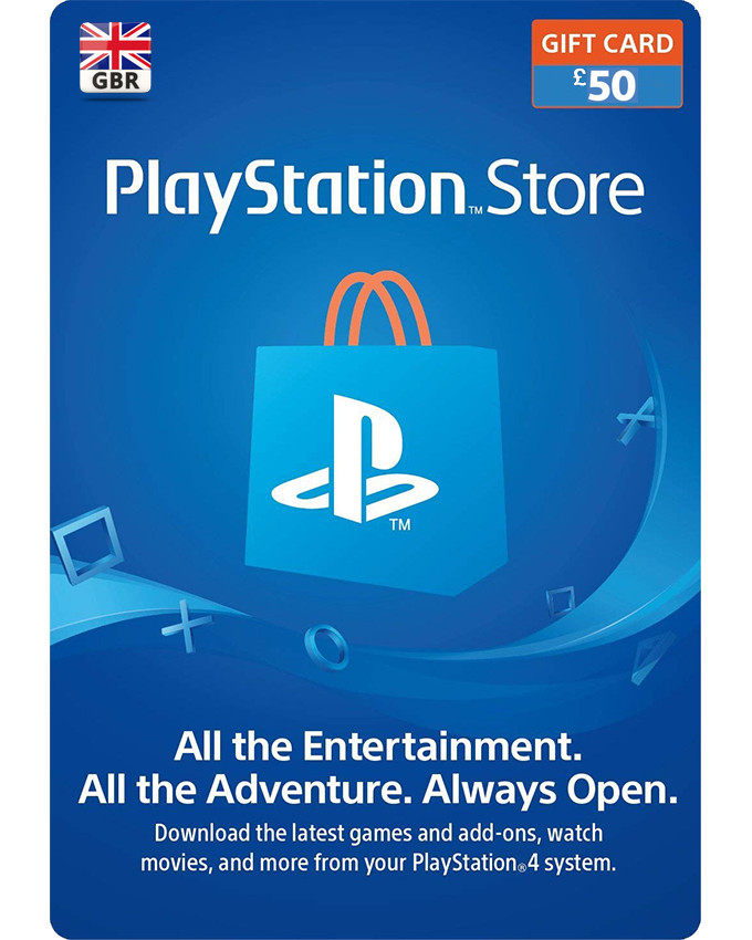 Playstation Wallet PSN Gift Card £50 UK