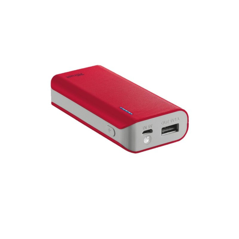 Power Bank Trust Primo 4400 prenosivi Red