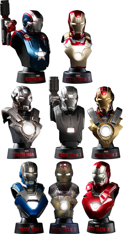 Figura Iron Man 3: Deluxe 1:6 scale Collectible Bust Set