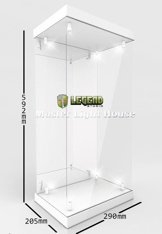 Figura Master Light House Acrylic Display Case with Lighting for 1/4 Action Figures (white)