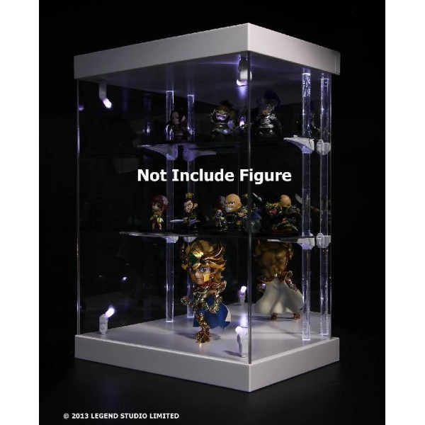 Figura Master Light House Acrylic Display Case with Lighting for Mini Figures (white)
