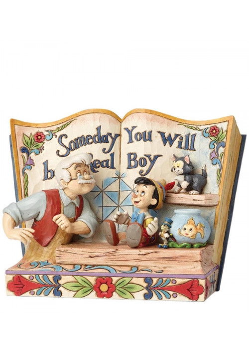 Figura Someday You Will Be A Real Boy Storybook Pinocchio