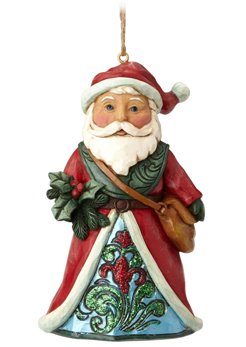 Figura Wonderland Santa Holly Hanging Ornament Figure