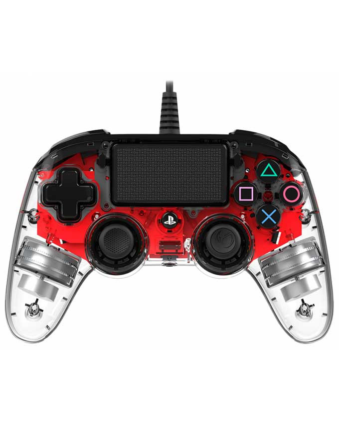 Gamepad Nacon PS4 Wired Illuminated Compact Red