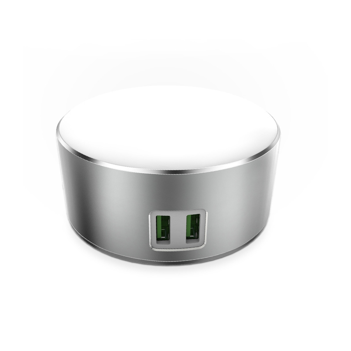 Punjač LDNIO USB Charger 2 Ports 5V/2.4A 12W with LED Lamp Silver