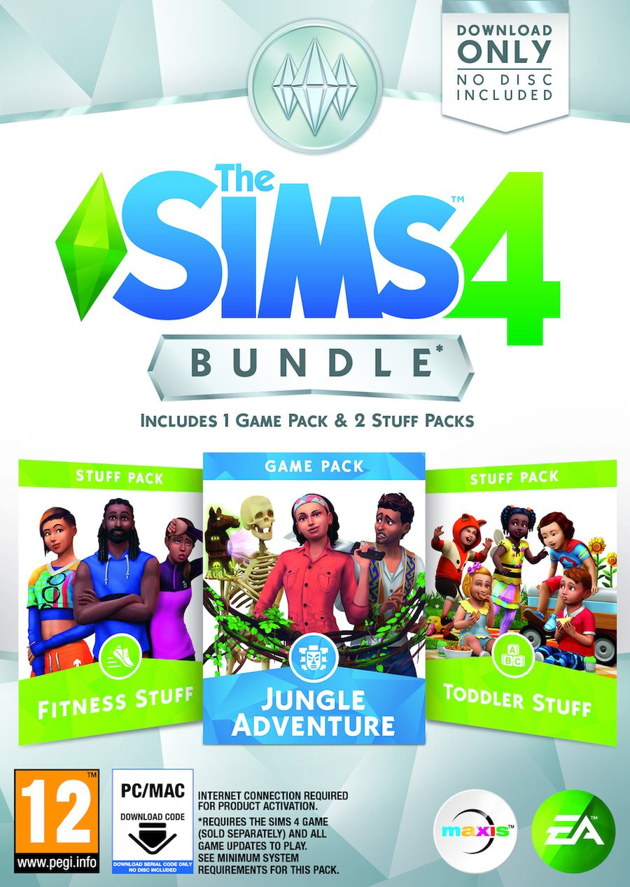 PCG The Sims 4 Bundle Pack 11 Fitness Stuff + Jungle Adventure + Toddler Stuff (Code in a Box)