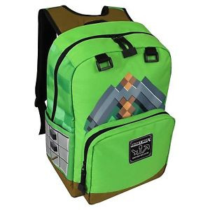 Ranac Minecraft 18 Pickaxe Adventure - Green Backpack