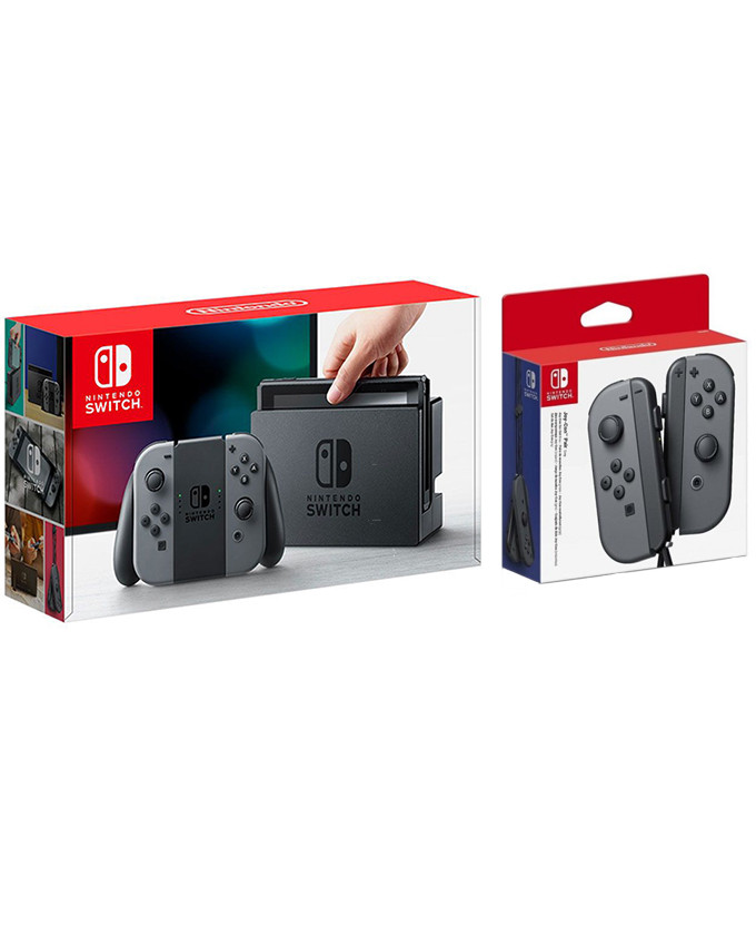 Konzola Nintendo SWITCH + Joy-Con Par (Gray) Gamepad