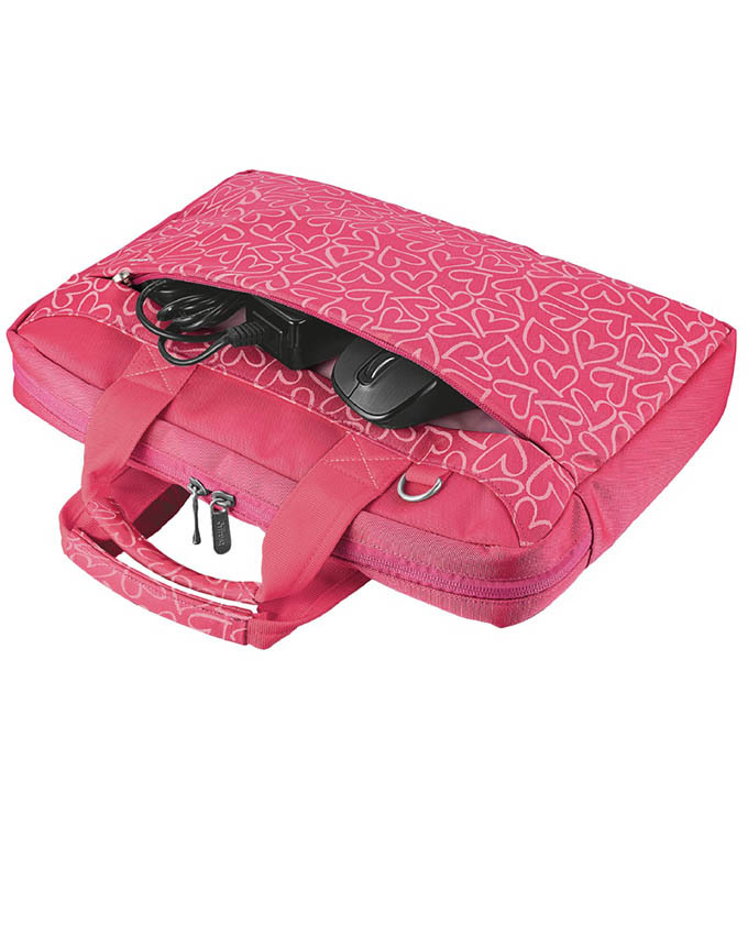 Torba za laptop TRUST 13.3 Bary Carry Pink Hearts