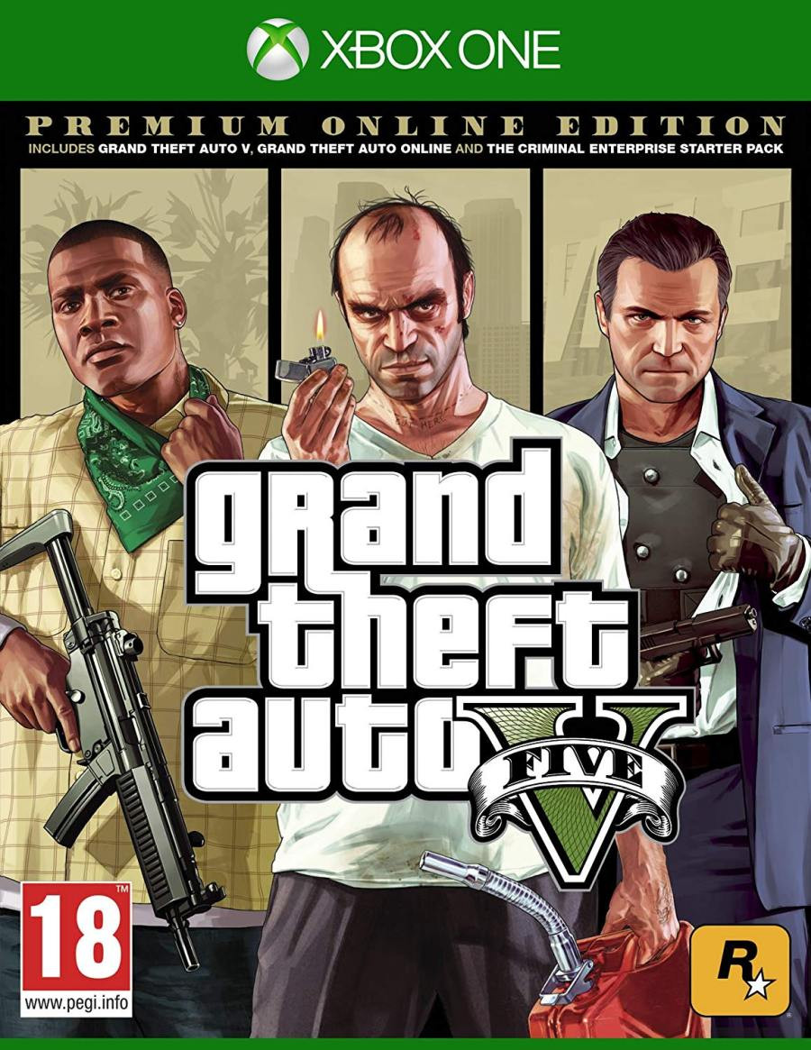 XBOX ONE Grand Theft Auto 5 ( GTA 5 ) Premium Edition
