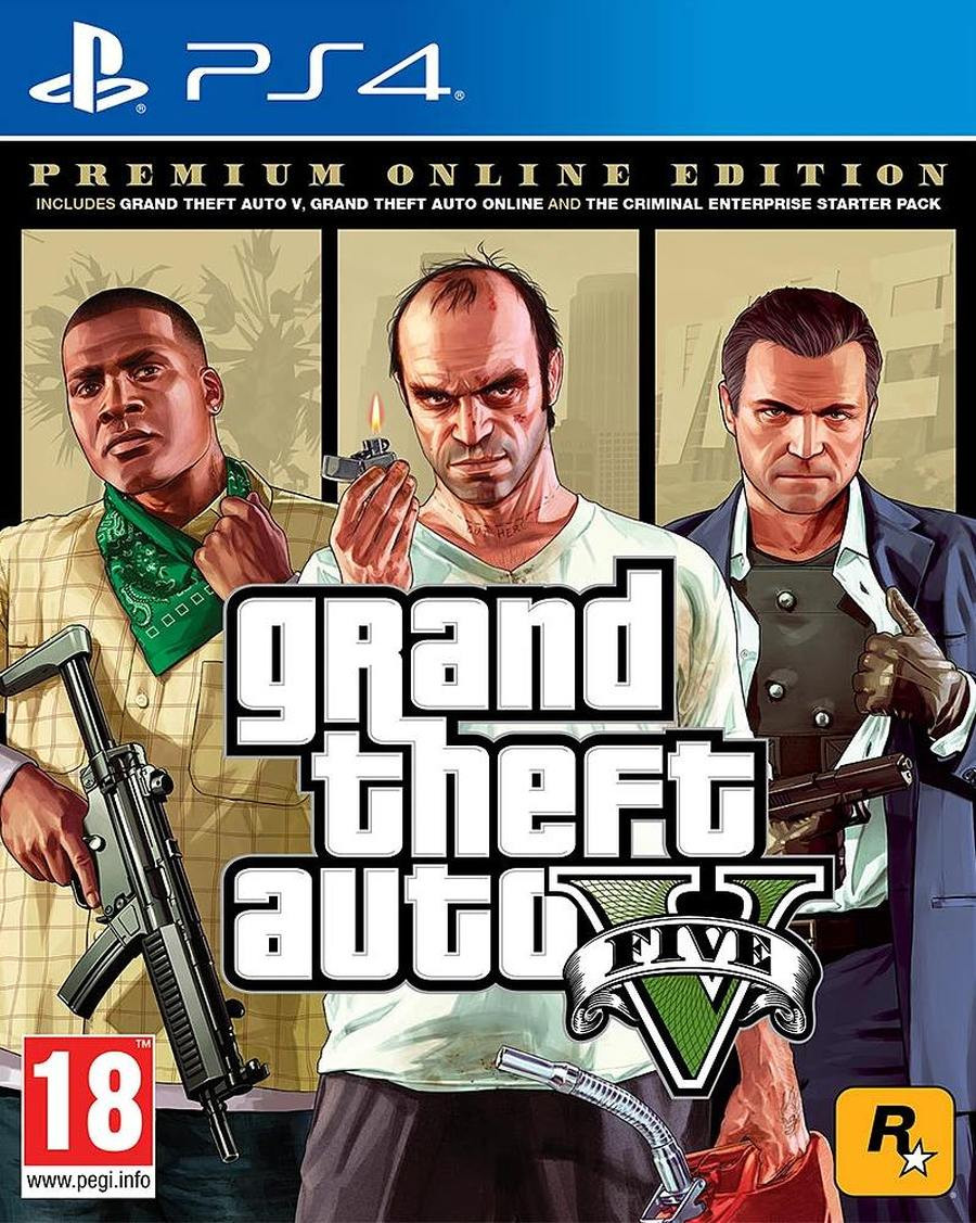 PS4 Grand Theft Auto 5 ( GTA 5 ) Premium Edition