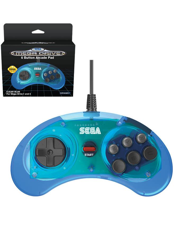 Gamepad SEGA Mega Drive Mini 6-B USB Blue gamepad