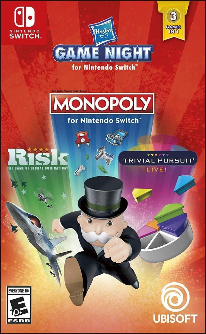 SWITCH Hasbro Family Fun Pack (Boggle + Trivial Pursuit + Monopoly + Risk)