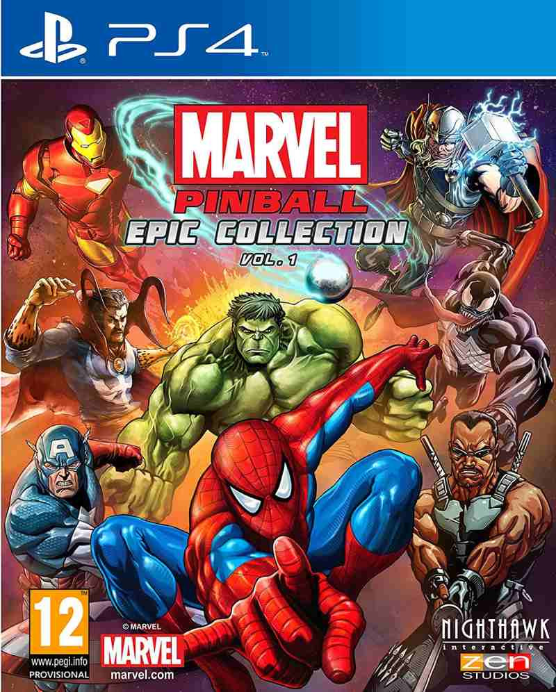 PS4 Marvel Pinball Epic Collection Volume 1