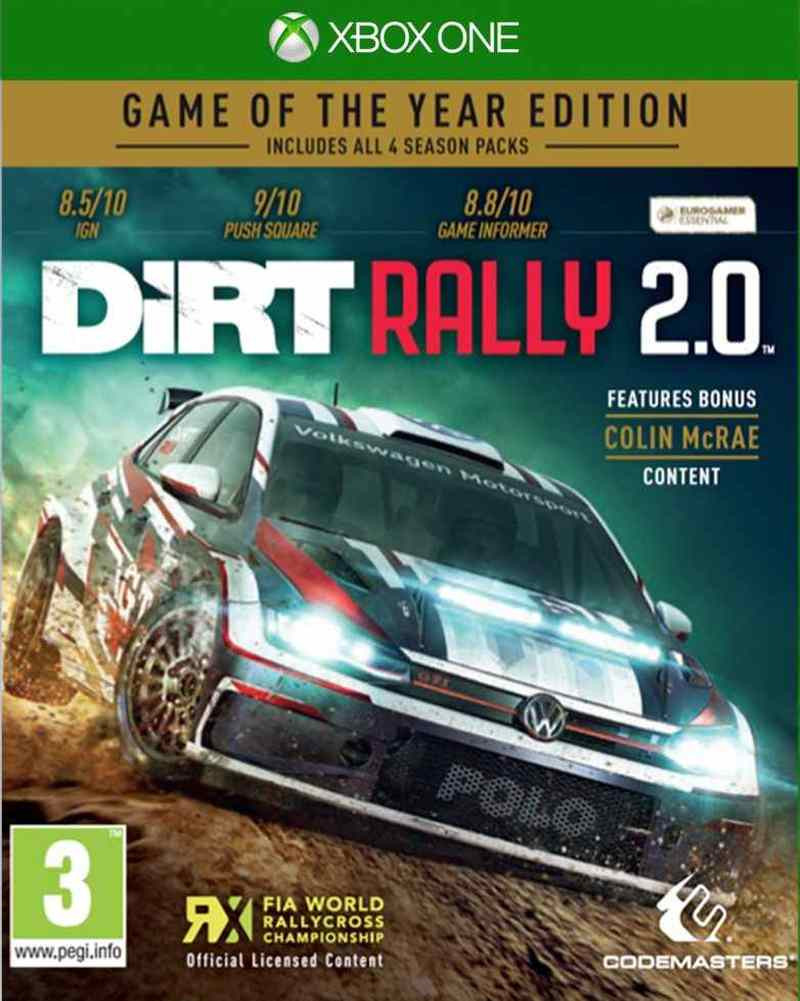 XBOX ONE Dirt Rally 2.0 GOTY