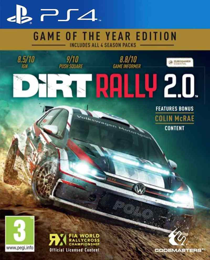 PS4 Dirt Rally 2.0 GOTY