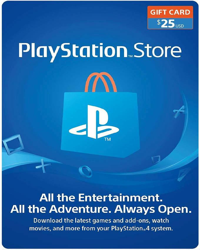 Playstation Wallet PSN Gift Card $25 USA