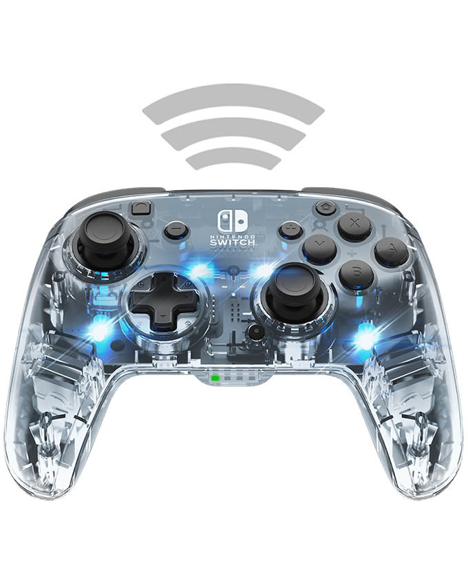Gamepad PDP Nintendo SWITCH Deluxe Wireless Pro Controller Afterglow + Audio