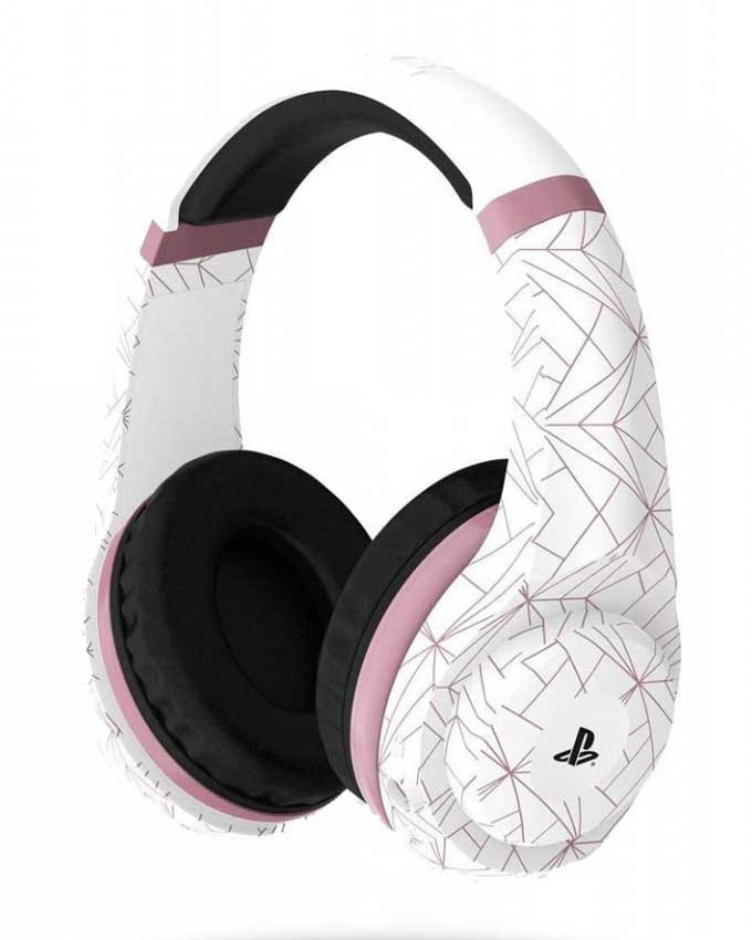Gejmerske slušalice 4Gamers Rose Gold Edition - Abstract White