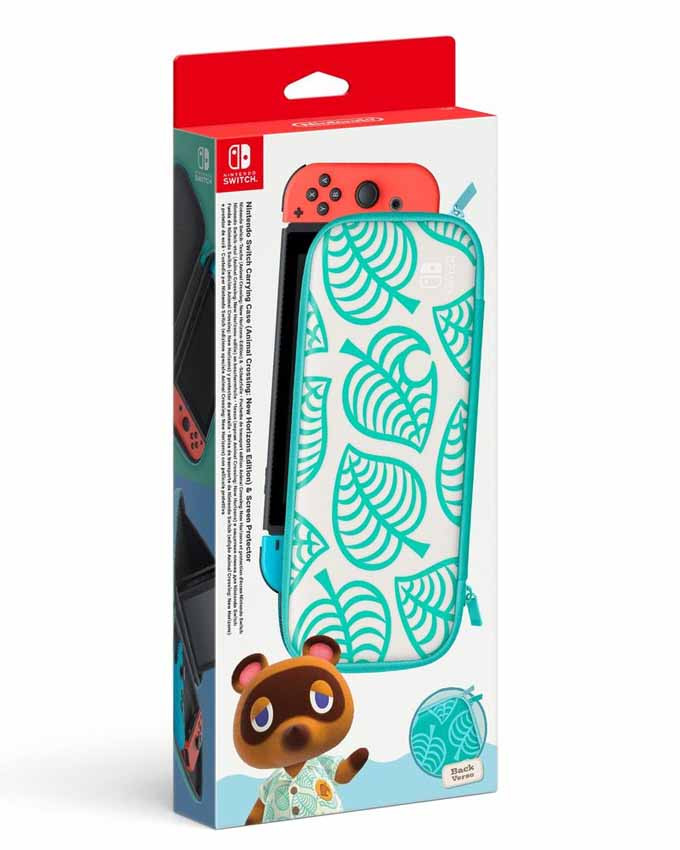 Futrola Nintendo SWITCH Carrying Case and Screen Protector - Animal Crossing Edition
