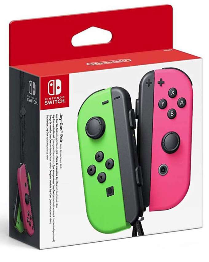 Gamepad Nintendo SWITCH Joy-Con par (Neon Green and Pink)