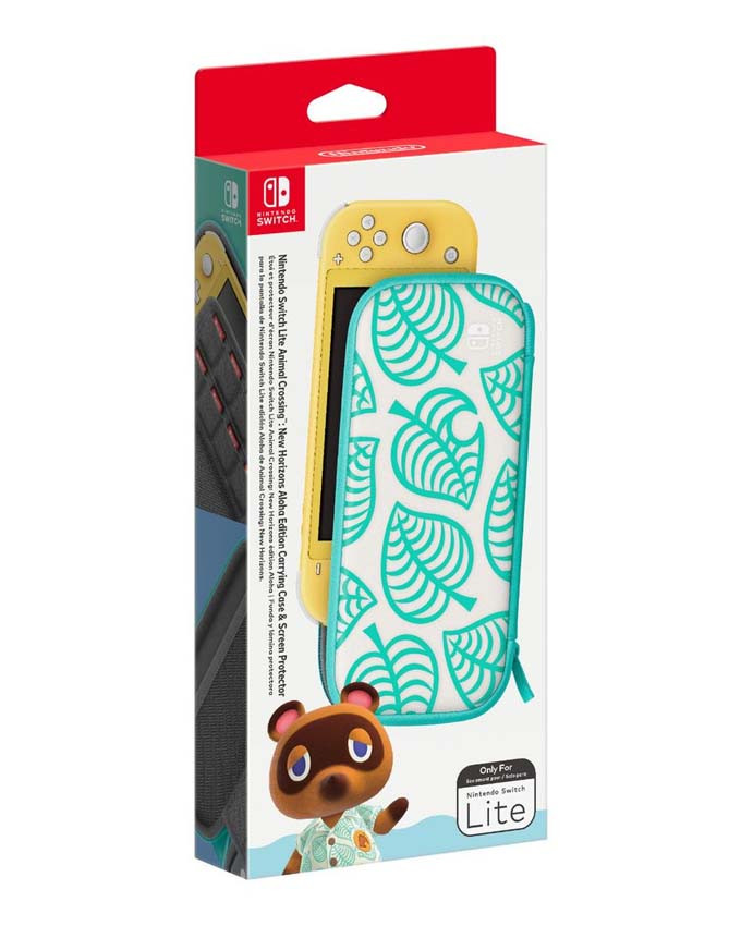 Futrola Nintendo SWITCH Lite Carryng Case and Screen Protector - Animal Crossing Edition