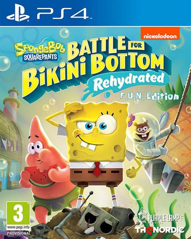 PS4 Spongebob SquarePants - Battle for Bikini Bottom - Rehydrated - F.U.N. Edition