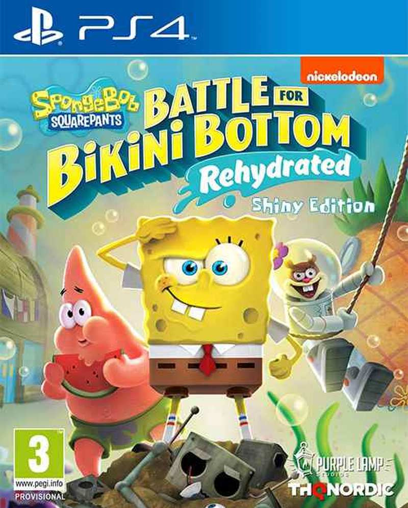 PS4 Spongebob SquarePants - Battle for Bikini Bottom - Rehydrated - Shiny Edition