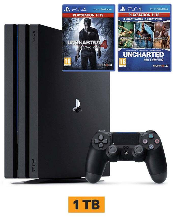 Konzola Sony Playstation 4 Pro 1TB + Uncharted 4 i Uncharted Collection