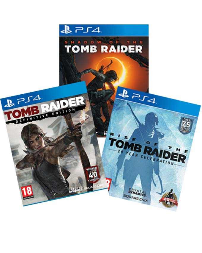PS4 Tomb Raider Definitive Edition + Rise of the Tomb Raider + Shadow of the Tomb Raider