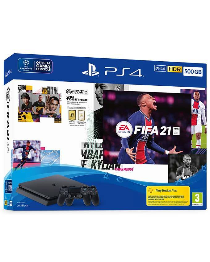 Konzola Sony PlayStation 4 Slim 500GB sa dva džojstika + PS4 FIFA 21