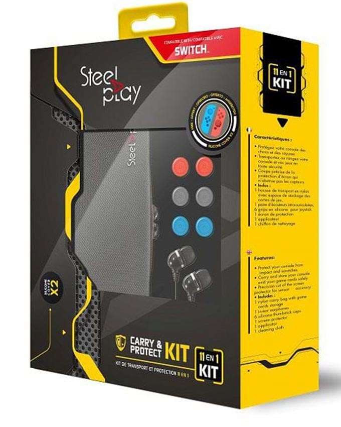 Futrola STEELPLAY - 11 IN 1 Carry and Protect Kit + 2 Free Joypad Cases
