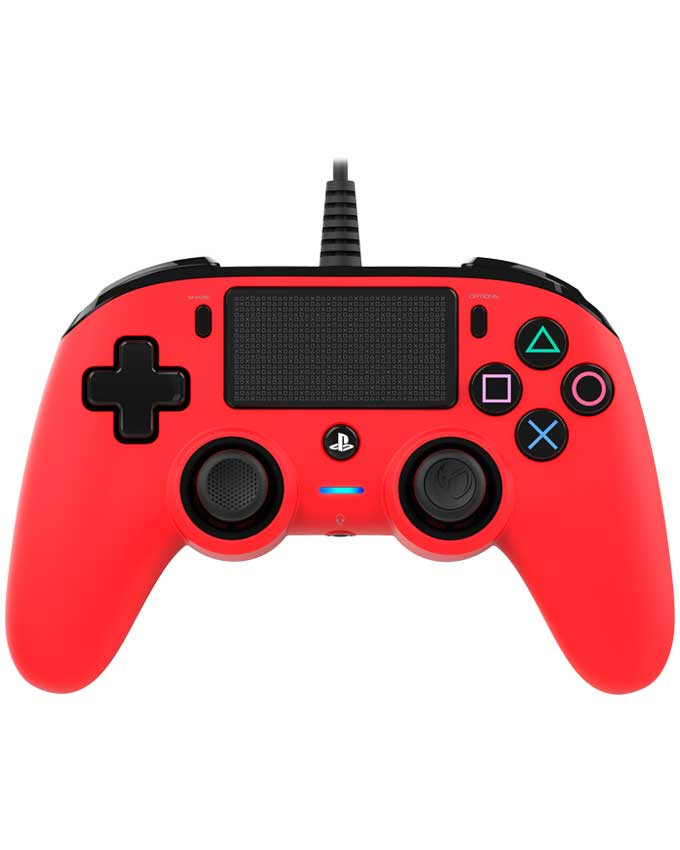 Gamepad Nacon PS4 Wired Compact Red