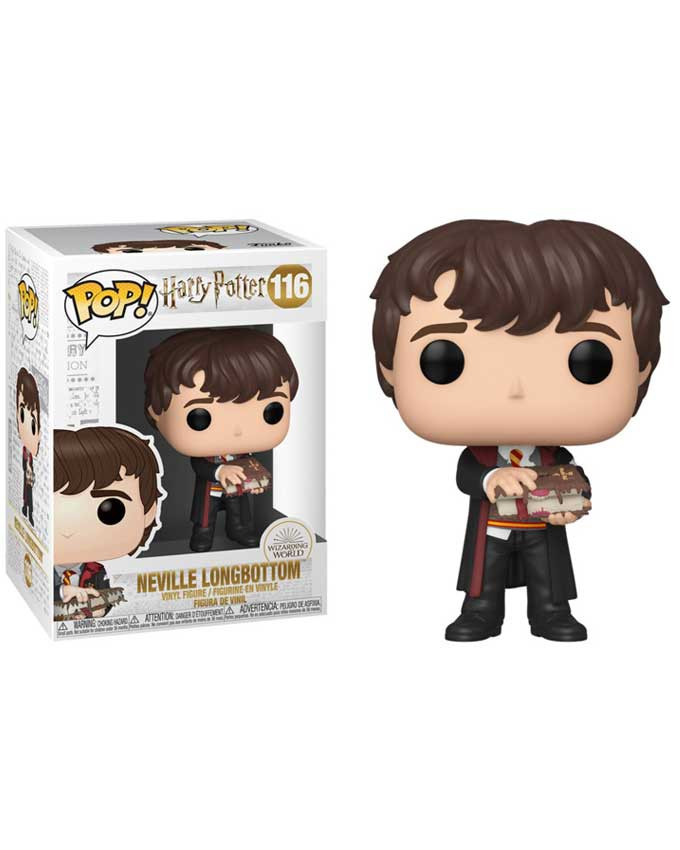 Figura POP! Harry Potter - Neville with Monster Book