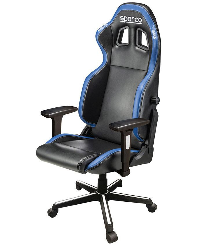 Gejmerska stolica Sparco ICON Black/Blue