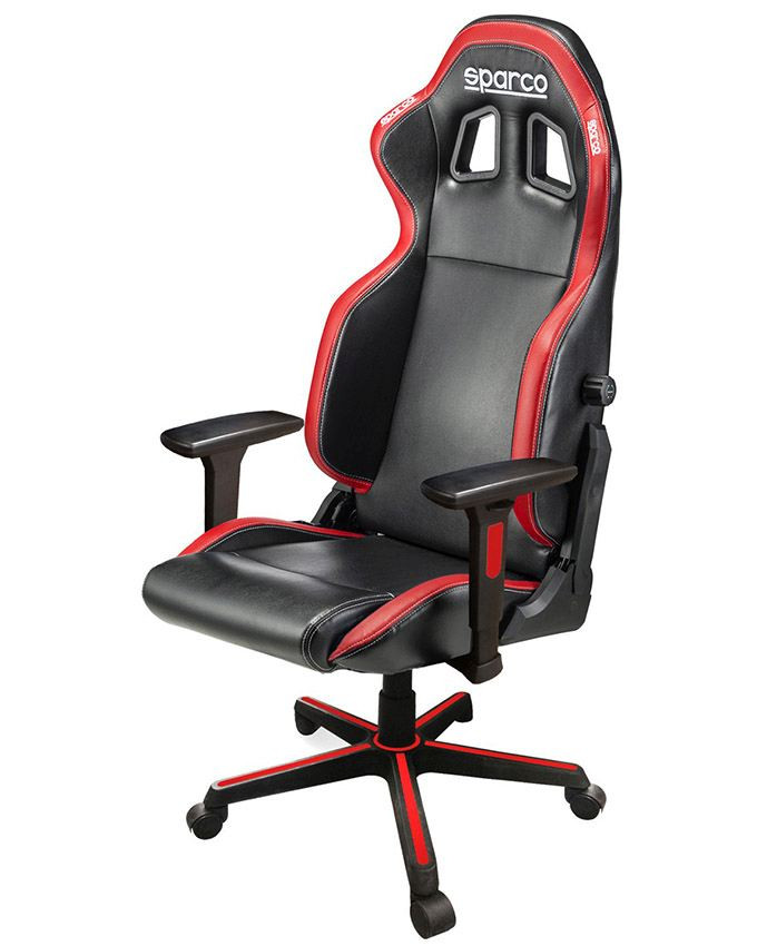 Gejmerska stolica Sparco ICON Black/Red