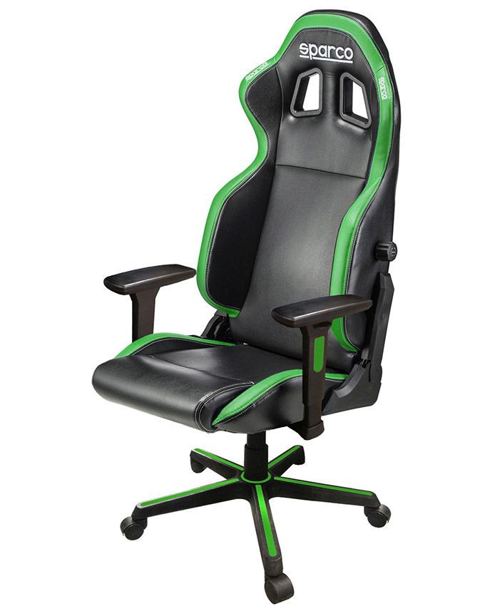Gejmerska stolica Sparco ICON Black/Green