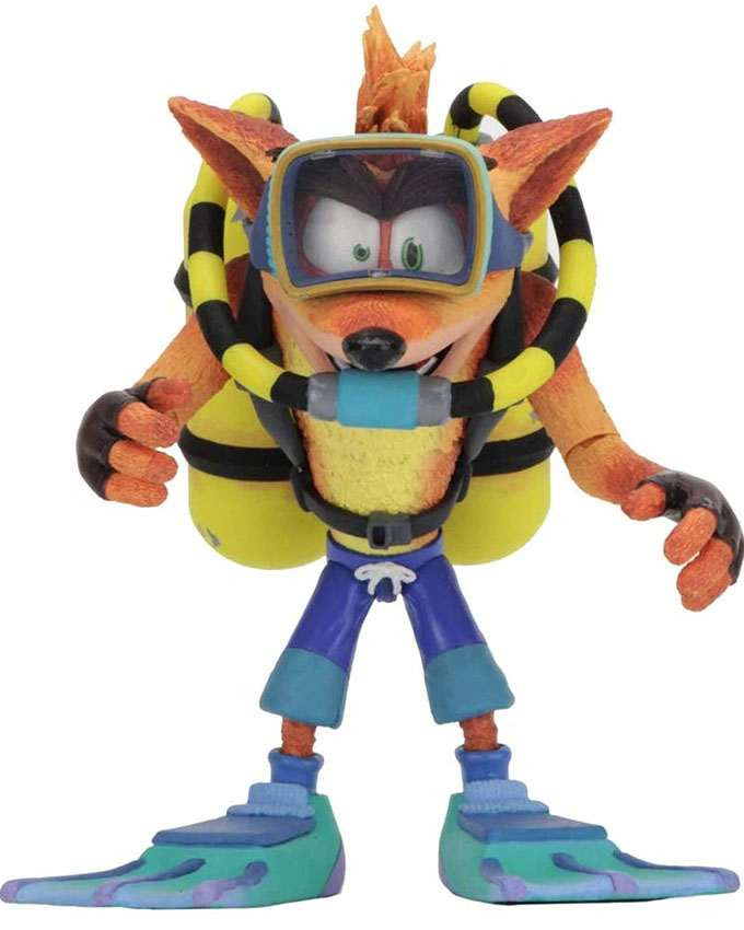 Figura Crash Bandicoot Action Figure Deluxe Scuba Crash 18cm